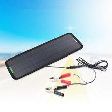 цены на Solar Car Charger 18V 5W Monocrystalline Silicon Solar Panel Powering For 12V Car Motorcycle Batteries Or Other 12V Devices  в интернет-магазинах