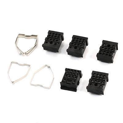 5pcs 14 Pin Power Timer Relay Socket Base Holder 18FF-4Z-A2 for HH54P/H3Y 5piece details about ptf14a relay socket base for ly4nj hh64p l power relay brand new