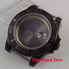 Parnis 40mm PVD coated watch case fit ETA 2824 movement Brushed ceramic bezel sapphire glass for SUB men's watch C22