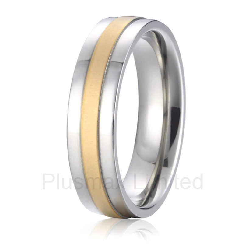 OEM/ODM wedding anniversary gift titanium band fashion jewelry engagement promise rings for men and women