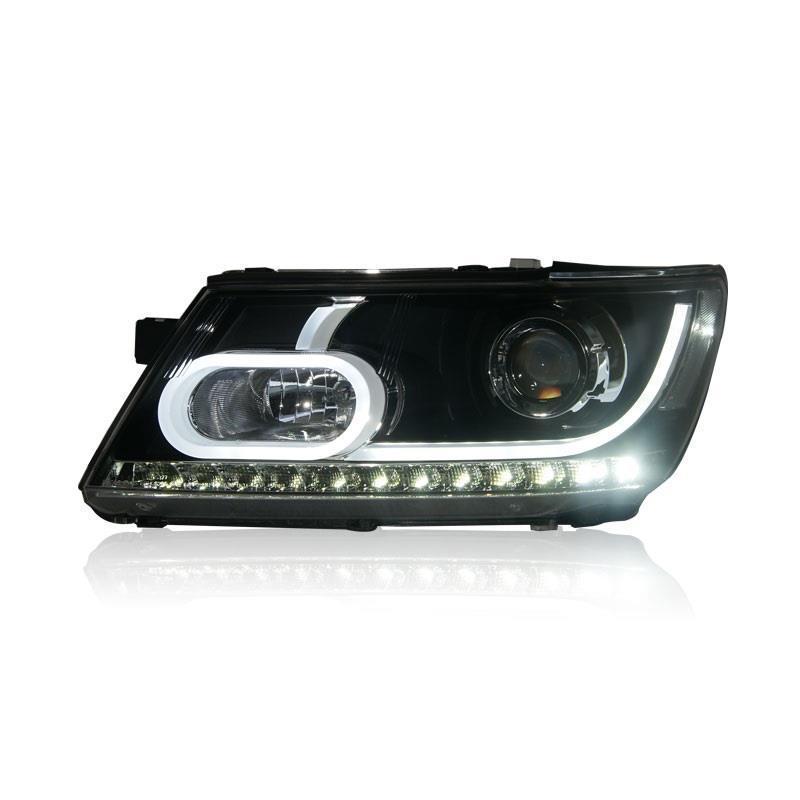 L'assemblée Styling Luces Drl Lampe Neblineros Led Par Auto Feux Diurnes Voiture Phares D'éclairage Pour Dodge Journey