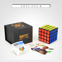 Moyu Aosu GTS M 62mm 4x4x4 SpeedCube Black/Stickerless Magic Cube Magnetic Version Cube Puzzle Educational Special Toys