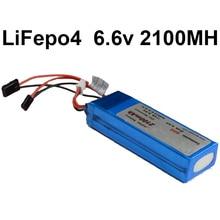 Batería LiFepo4 batería de litio de 6.6 V 2100 mah 20C 2 S de la batería de alimentación para aviones de aire modelo de batería poder Futata conector