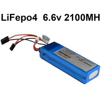 Negro Futata conector 6,6 V 2100 mAh Paquete de batería de litio de LiFepo4 Paquete de batería 20C 2 s batería de potencia para los drones de aire modelo de batería