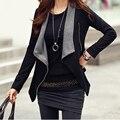 Autumn Winter Korean Style Long Sleeve Jacket Coat Slim Side Zipper Coat Jacket Women Cardigan Casaco Feminino Fashion Solid
