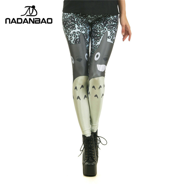 2016 Hot Sale Popular Fashion  Miyazaki Comics Totoro Legins Cartoon Leggins Printed Women Leggings  KDK1545