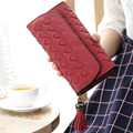 New Fashion Women Long Leather Credit Card Wallet knitting Tassel  Wallet For Women  Designer High Quality Coin Purses