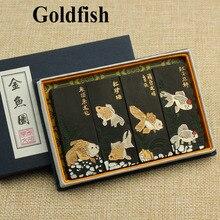 Stick-Set Sumi-E Goldfish Inks Calligraphy-Ink Chinese-Ink 4pcs Ink-Paint Laohukaiwen
