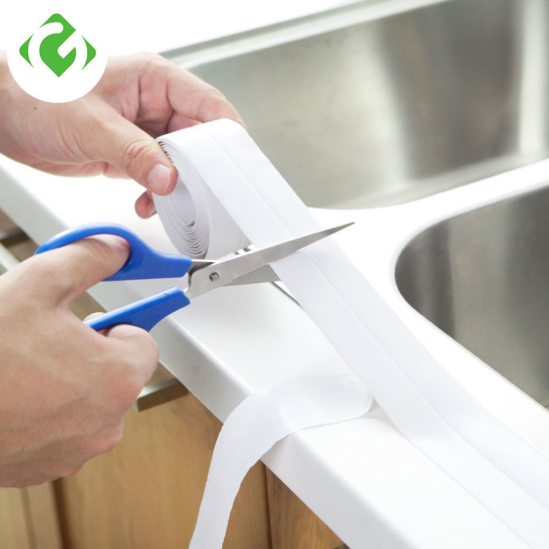 DIY Kitchen Bathroom Waterproof Mildew Tape Corner Line Corner Seam Moisture Proof Mold Protection Right Angle Self-adhesive PVC
