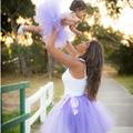 Estilo de Mamá y Me Juego Pettiskirt Tutu Set Foto De La Boda de dama de Honor Baile de Madre e Hija Traje Falda Del Tutú TS059