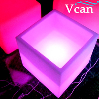 Big size square cube colors change rgb light led wine cooler VC F3838