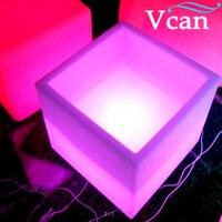 Grande taille carré cube couleurs changent lumière rgb led refroidisseur de vin VC-F3838