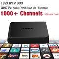 Céu Receptor IPTV Caixa de TV Android com 1200 IPTV Livre canais de Mídia Itália Países Baixos REINO UNIDO Alemanha Céu Canal Francês Turco jogador