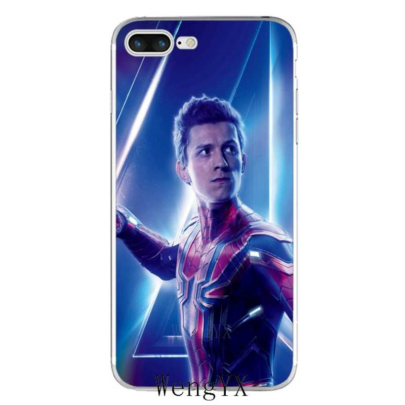 separation shoes 9585d e2b06 Peter Parker Tom Holland Spiderman slim silicone TPU Soft phone case For  Xiaomi Redmi 3 3s 4 4A 4x 5 plus pro Note 3 4 5 5A
