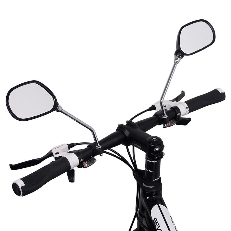 A Pair Bicycle Glass Mirror Rear View Mirrors Wide Range Back Sight Reflector Angle Adjustable Glass Mirrors Bike Mirror