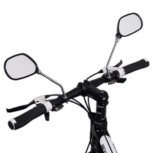 A Pair Bicycle Glass Mirror Rear View Mirrors Wide Range Back Sight Reflector Angle Adjustable Bike