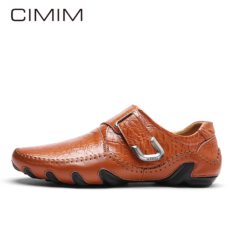 CIMIM Brand Mens Shoes Casual Autumn/Winter Shoes Men Plush Warm High Quality Leather Men Shoes Male Italian Loafers Man Zapatos  plush casual suede shoes boots mens flat with winter comfortable warm men travel shoes patchwork male zapatos hombre sg083