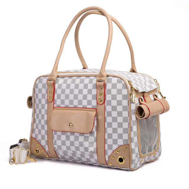 eb764ffbf08f Printed PVC Dog Carrier Bags Pet Carrier Luxury Dog Bag Out Portable Bag  Egregiousness Teddy Vip Bichon 2 Color and 2 Size