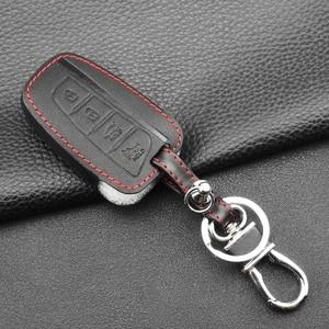 Image 4 - Jingyuqin 4 כפתורי עור רכב מפתח מקרה עבור 2013 2014 2015 יונדאי סנטה FE IX45 בראשית EQUUS AZERA keyless רכב אבזרים