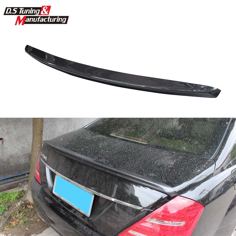 Mercedes S class w221 2005-2013 AMG style carbon fiber cf spoiler rear trunk wings tail lip for benz S320 S400 S420  S450 S600 mercedes carbon fiber trunk amg style spoiler fit for benz e class w207 2 door 2010 2015 coupe convertible vehicles