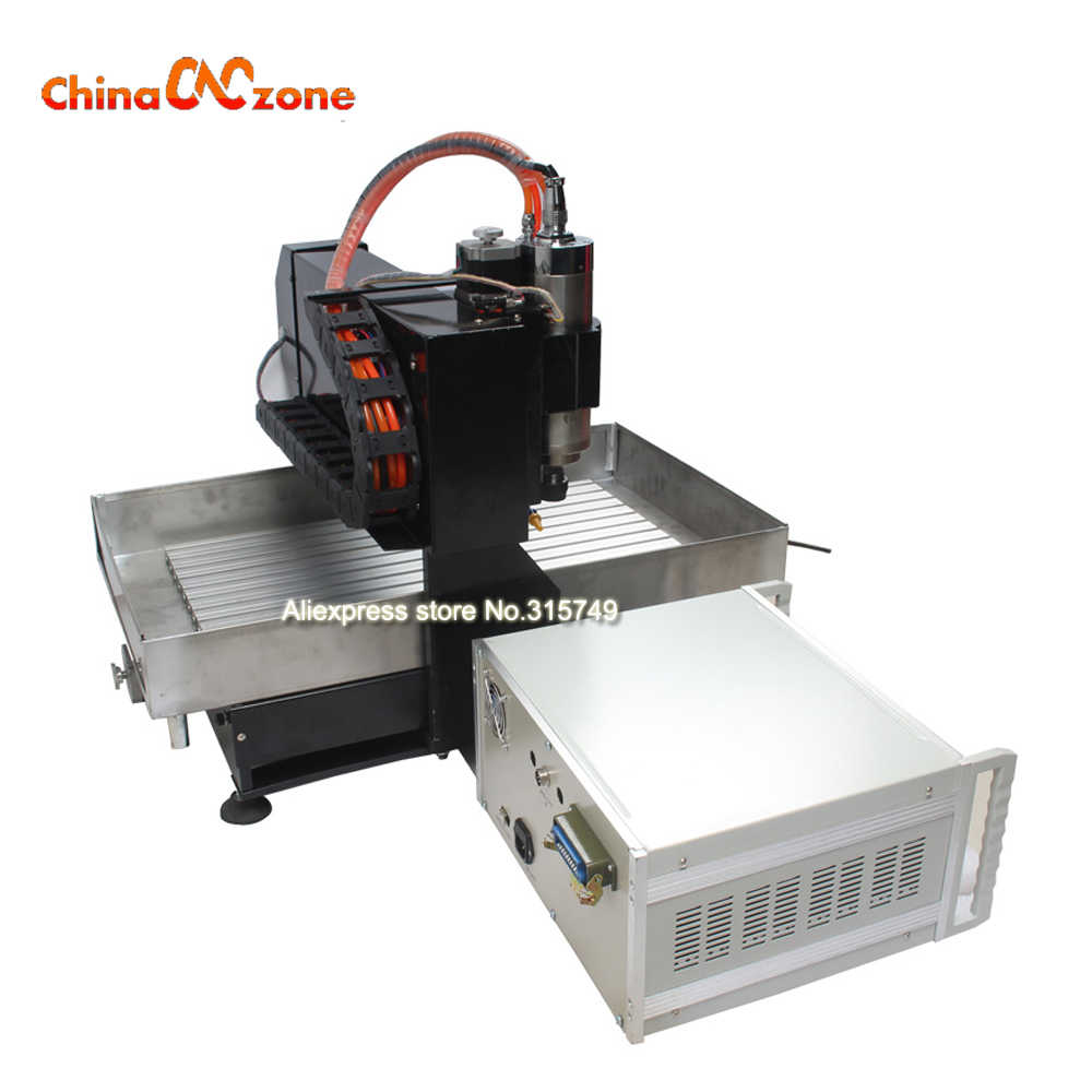 Mini CNC 3040 Engraving machine for steel copper aluminum 3-axis 2200W  water cooling spindle mini desktop stone cnc router