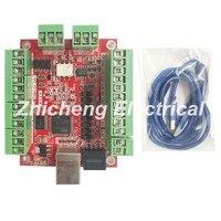 Ücretsiz kargo CNC MACH3 USB 4 Eksen 100 KHz USBCNC Pürüzsüz Step Motor Kontrol kartı CNC Gravür için breakout kurulu 12-24 V