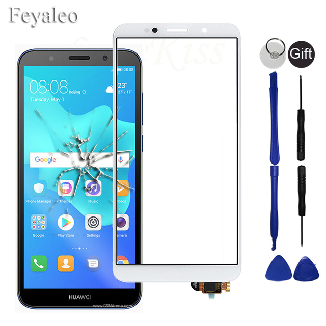 """5.45"""" Front Panel For Huawei Honor 7A 7S DUA L22 Y5 Prime 2018 DRA L22 Touch Screen Sensor Glass Y5 2018 LCD Display Digitizer"""