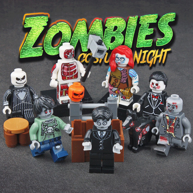 Blocks Model Building 2019 Fashion 6pcs/lot Legoings Halloween Zombie Figure Horror Skeleton Witch Zombie Ghost Vampire Building Blocks Toy Gift For Kids Pure And Mild Flavor