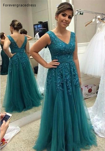 2019 Mother Of The Bride Dresses Aqua A Line V Neck Long Formal Godmother Evening Wedding Party Guests Gown Plus Size