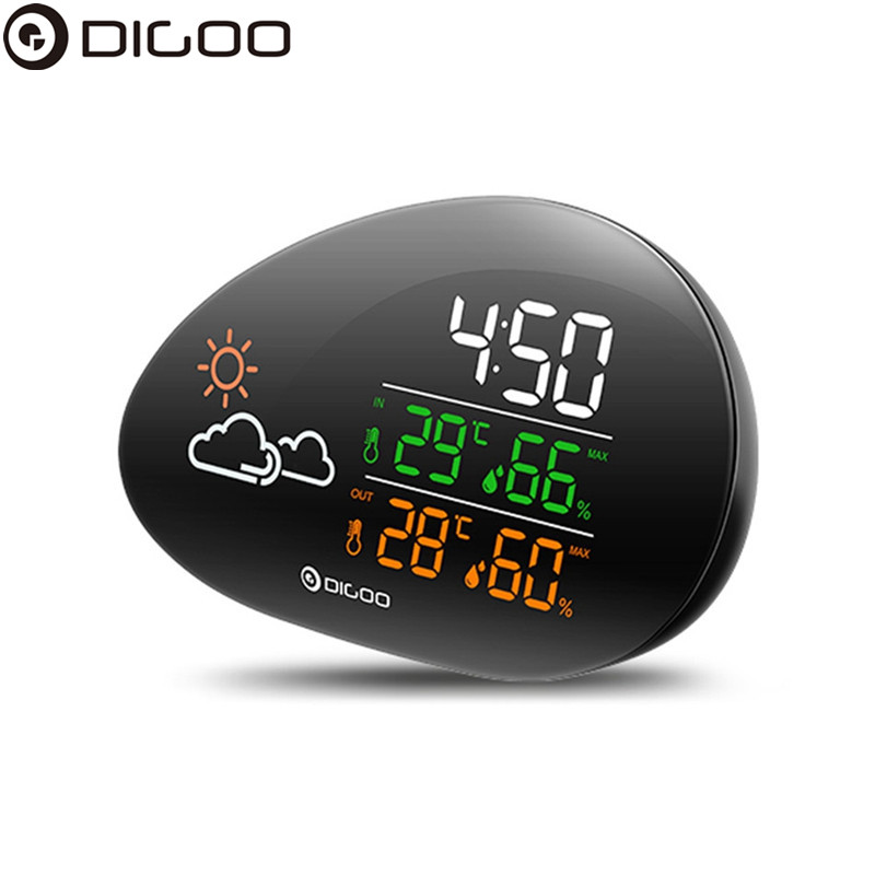 DIGOO DG THS01 Stone Clock Weather Station Weather Forecast Thermometer Hygrometer Temperature Humidity Clock Snooze Function