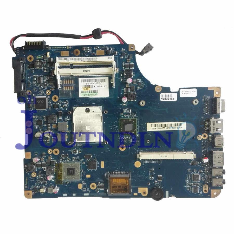 JOUTNDLN PARA TOSHIBA KSWAE L500D L505D Laptop motherboard K000079010 LA-4971P DDR2 Livre para enviar CPU