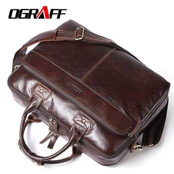 63851d5f3817 OGRAFF мужские сумки из натуральной кожи на ремне брендовые кожаные  роскошные сумки 2018 Роскошные ручные сумки
