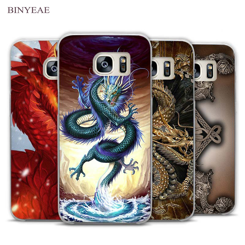 BINYEAE Dragon Masters on Chinese Clear Phone Case Cover for Samsung Galaxy Note 2 3 4 5 7 S3 S4 S5 Mini S6 S7 S8 Edge Plus