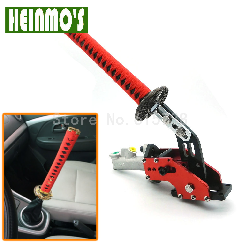 Car Styling Universal Hydraulic Handbrake Lever Drift E-Brake Racing Samurai Sword Handbrake Drift Handbrake Parking 26.5cm universal 24 hydraulic handbrake drift emergency brake lever master cylinder w locking device vertical long handle 60cm black
