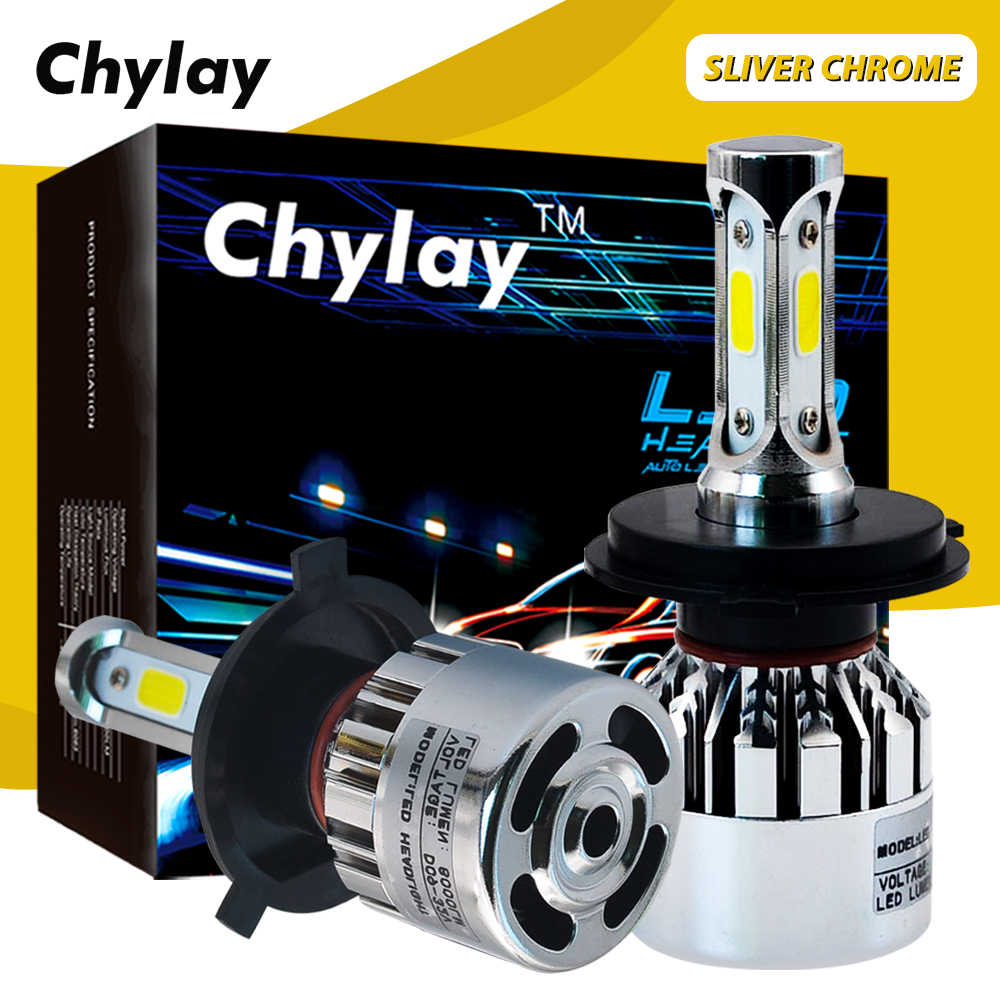 2Pcs LED H7 H4 H1 H3 H11 H8 H9 H13 9005 HB4 HB3 9006 9007 881 Car Headlight Bulb 72W 8000lm 6000K Auto Led Lamp Fog Lights 12V