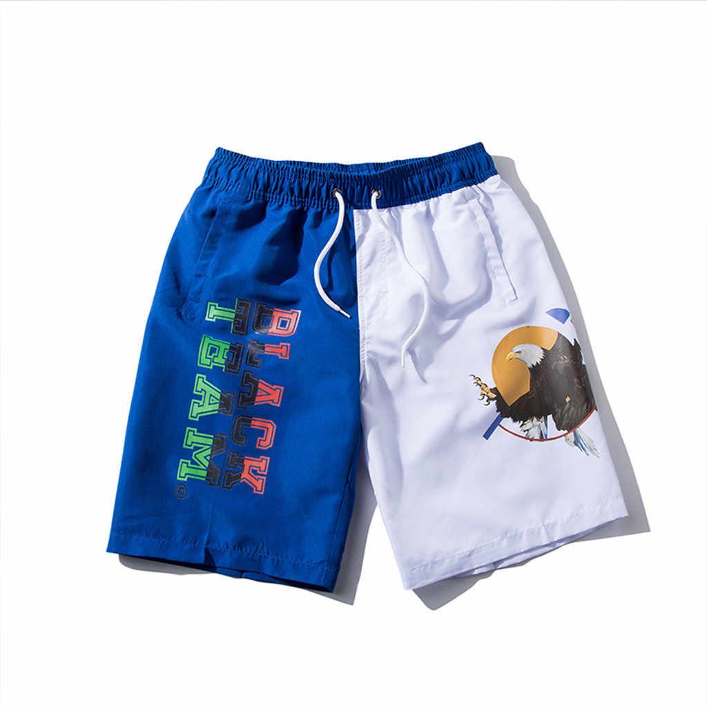 JAYCOSIN мужские лоскутные пляжные шорты с принтом размера плюс 6XL, мужские шорты для плавания, быстросохнущие пляжные шорты, мужские спортивные штаны