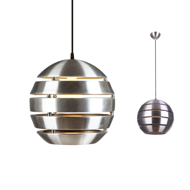 Vintage Aluminum Lamp Chrome Pendant Lights Ball Lamp