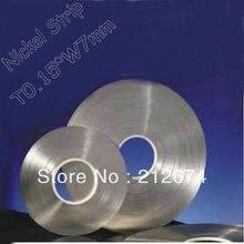 Freies Verschiffen 18650 batterie nickel band 0,15*7mm reinem nickel streifen 0,15mm dicke 7mm breite nickel gürtel
