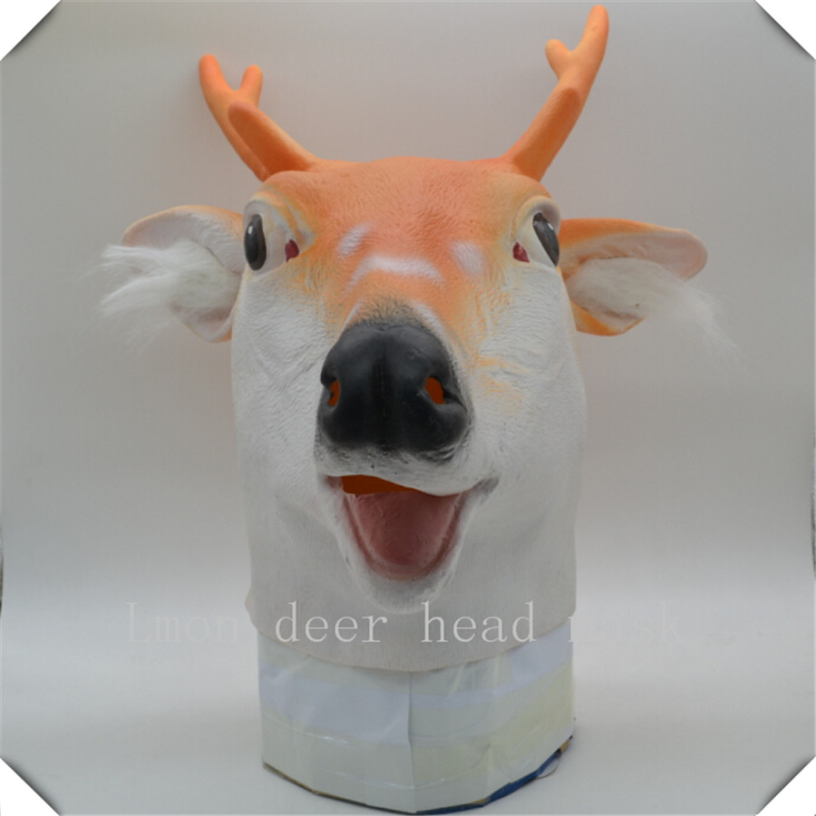 Aliexpress.com : Buy Halloween Creepy Sika deer head latex Rubber ...