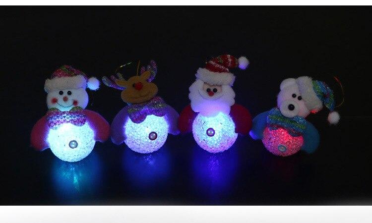Lovely Snowman Santa Claus LED Night Light Desk Doll Christmas tree pendant decor Table Luminous Lamp Nightlight for Children