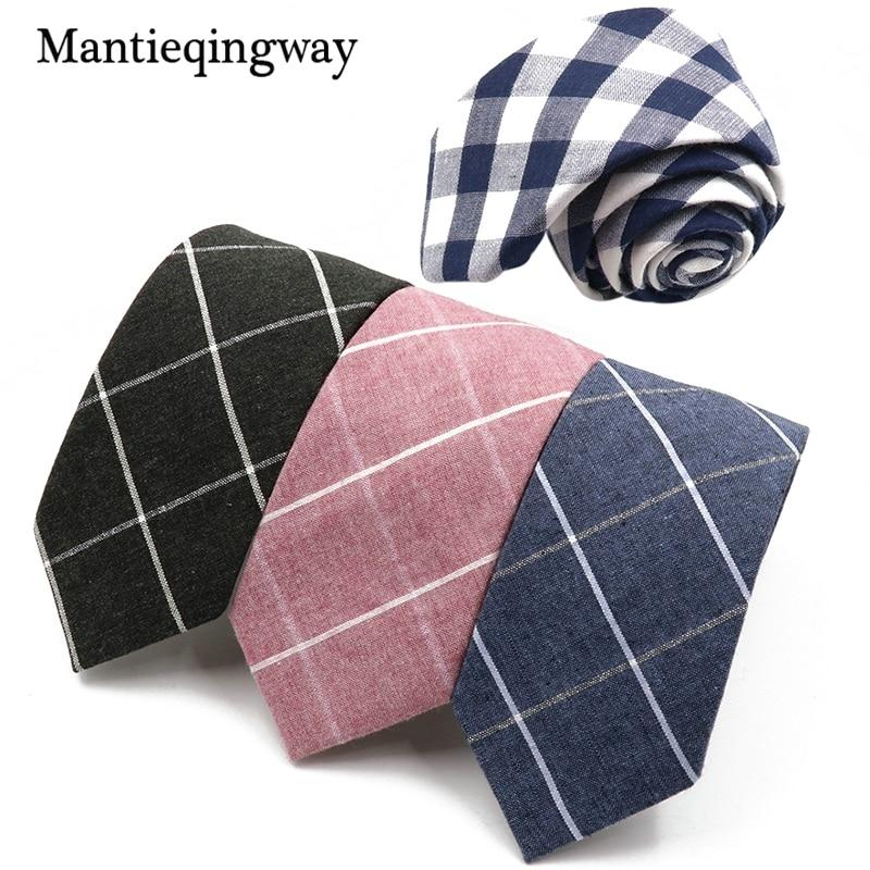 Mantieqingway 6.5cm Herren Anzug Krawatte Klassische karierte - Bekleidungszubehör
