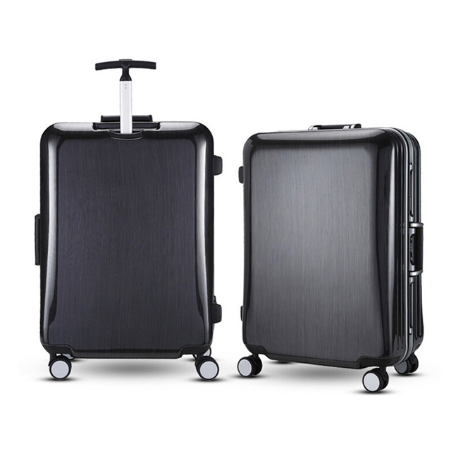 20 22 25 29 Inch Men Luggage Suitcase On Wheels For Travel ABS PC Women Red Hardside Rolling Luggage TSA Lock Spinner Wheels