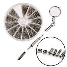 600 шт./компл. маленький Нержавеющая сталь винты 12 видов электроники гайки+ 1 шт. отвертка для очков ремонт инструмента