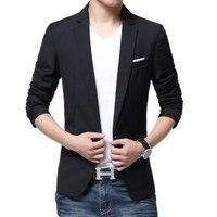 Blazer Masculino 2018 Fashion Man Brand Male Cotton Blend Blazer Slim Fit Americana Hombre Blazers Men Suits Casual Blazer Homme