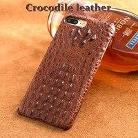 Wangcangli Марка сотовый телефон чехол натуральный Крокодил кожного покрова телефон чехол для iPhone х сотовый телефон случае ручной работы на зак