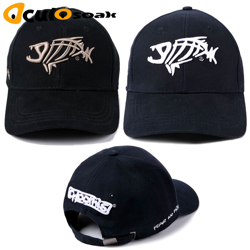 2019 Man g.loomis outdoor fishing   cap     baseball     cap   solid outdoor breathable cotton fishing hat hip pop fish bone   baseball     cap