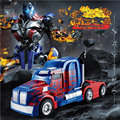 Juez TT669 optimus prime deformación coche de control remoto Red bull Un clave máquina rc modelo de coche autobots robot de juguete para niños de coches