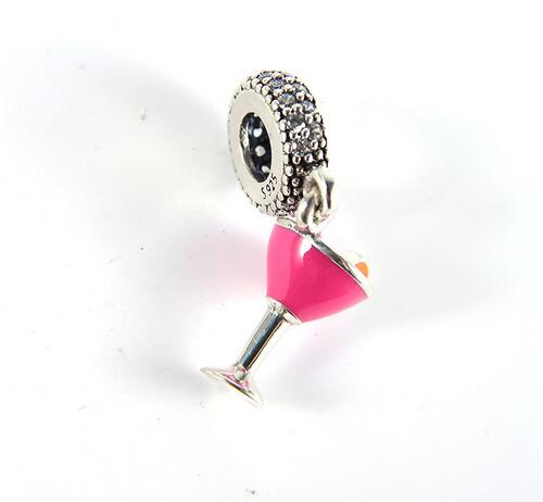 925 Sterling Silver Charm Fruity Cocktail Dangle Beads Fit Original Pandora Bracelets & Bangles For Woman DIY Jewelry