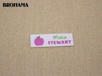 128 Multicolored Heart Shaped Name Label Decorative Label Children S Clothing Label White Organic Cotton TB023