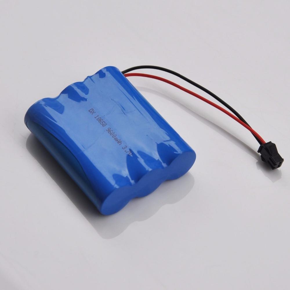1-2 pcs 3.7 v celular Li-ion Recarregável 18650 Da Bateria 9600 mah plugue SM para T10 Barco Inventor Dos Peixes bait Barco Gancho Barco De Pesca Da Carpa